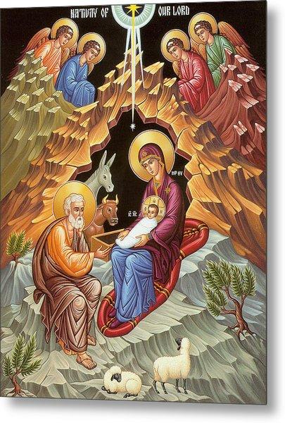 Orthodox Nativity Scene Metal Print