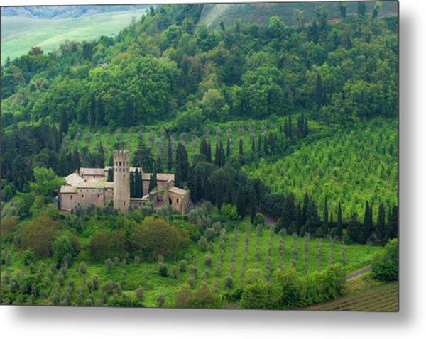 Orvieto Castle Metal Print