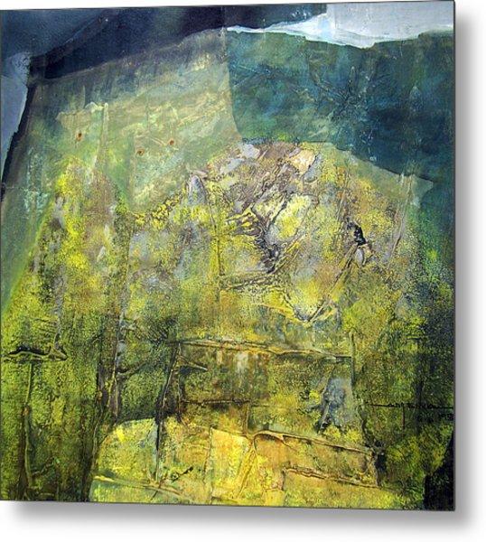 Os1959ar015ba Abstract Landscape Of Potosi Bolivia 20.9 X 21.9 Metal Print by Alfredo Da Silva
