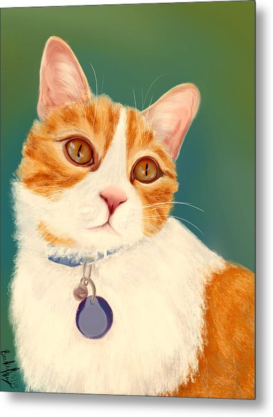 Oscar- Orange Tabby  Metal Print