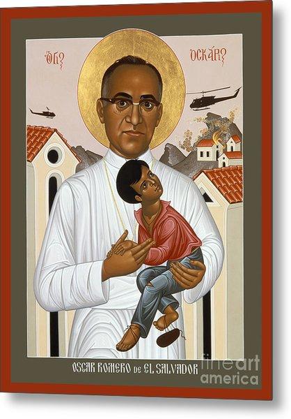 St. Oscar Romero Of El Salvado - Rlosr Metal Print