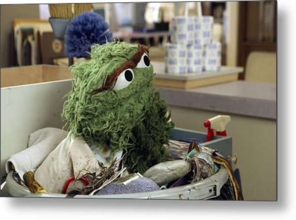 Oscar The Grouch Metal Print
