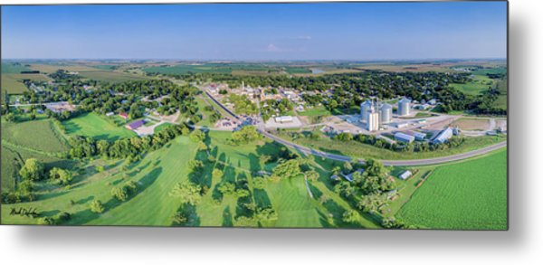 Panorama Of Osceola, Nebraska Metal Print