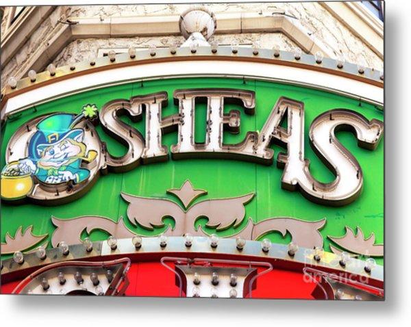 O'sheas Las Vegas Metal Print by John Rizzuto