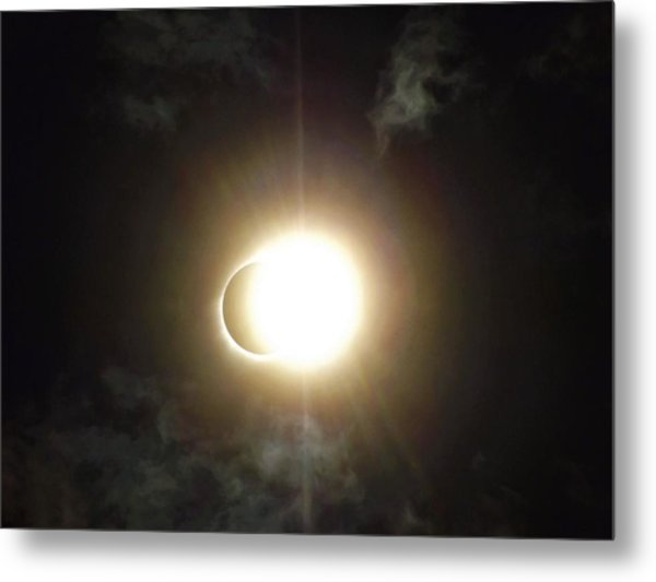 Otherworldly Eclipse-leaving Totality Metal Print