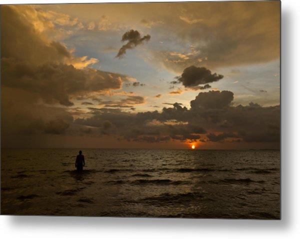 Otres Beach Sunset Metal Print