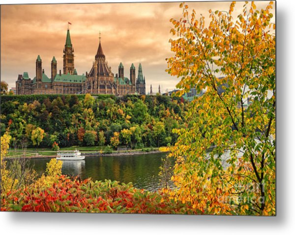 Ottawa Parliament Hill Autumn Metal Print