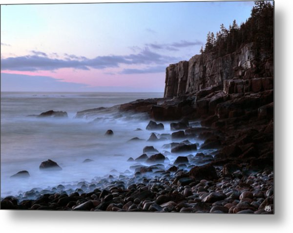 Otter Cliff Awash Metal Print