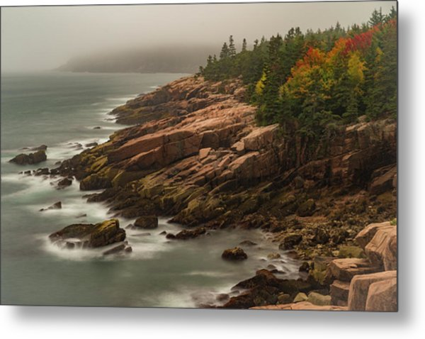 Otter Cliffs Metal Print