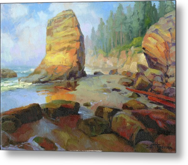 Otter Rock Beach Metal Print