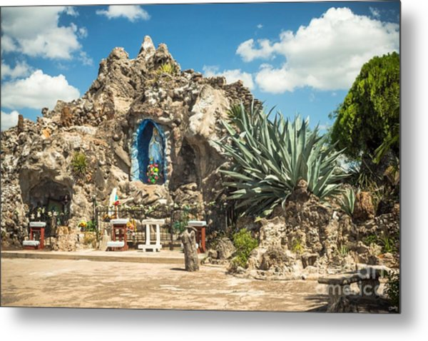 Our Lady Of Lourdes Grotto Metal Print
