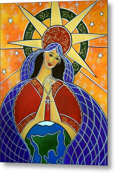Metal Print featuring the painting Our Lady Of Mercy by Jan Oliver-Schultz