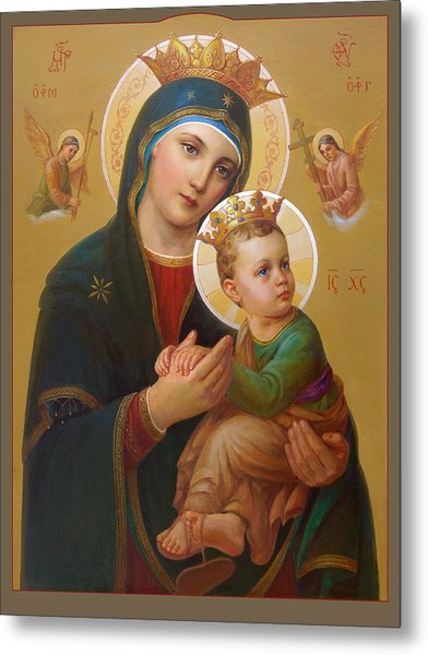 Our Lady Of Perpetual Help - Perpetuo Socorro Metal Print