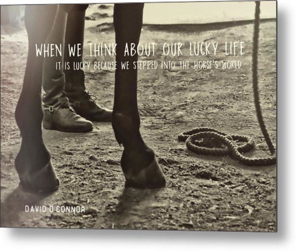 Our Partnership Quote Metal Print by JAMART Photography