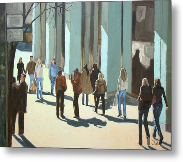 Out For A Walk With Shadows Number Two Metal Print by Tate Hamilton