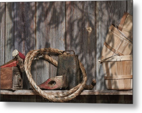 Out In The Barn Iv Metal Print