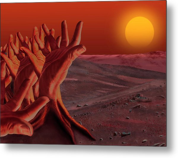 Out Of Hand Metal Print