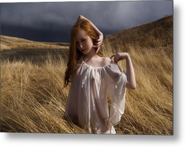 Out Of The Grass Metal Print