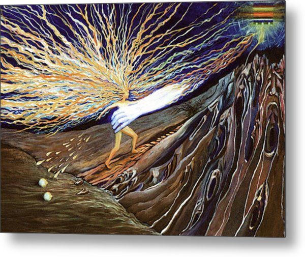 Metal Print featuring the painting Out Of The Miry Clay 2 by Jeanette Jarmon