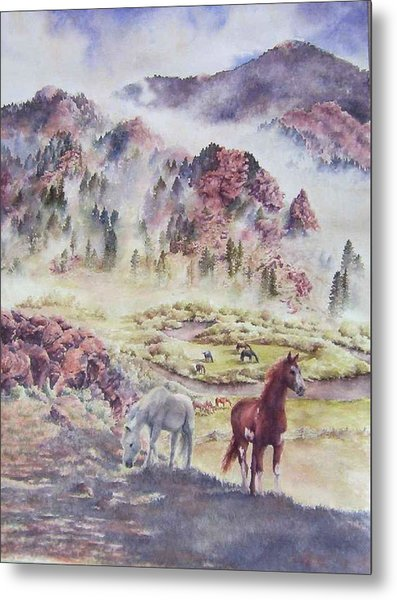 Out Of The Mist Metal Print by Barbara Widmann