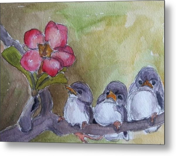 Out On A Limb Metal Print by Janet Butler