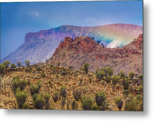 Outback Rainbow Metal Print