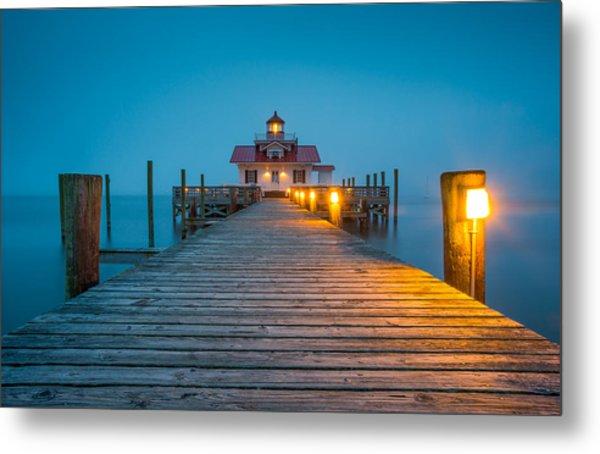 Outer Banks Manteo Nc Roanoke Marshes Lighthouse Obx North Carolina Metal Print