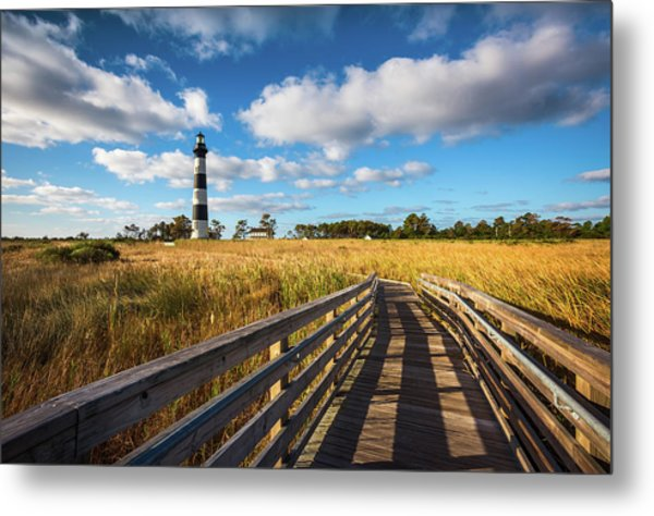 Outer Banks Nc Bodie Island Lighthouse Scenic Landscape Metal Print