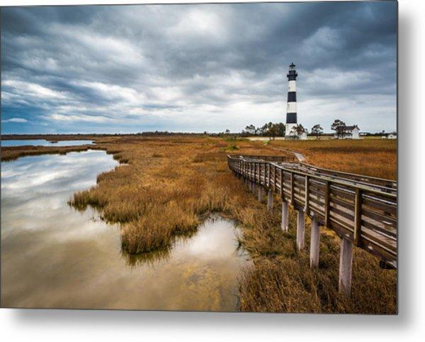 Outer Banks North Carolina Bodie Island Lighthouse Landscape Nc Metal Print