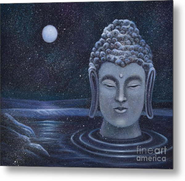 Winter Buddha Metal Print