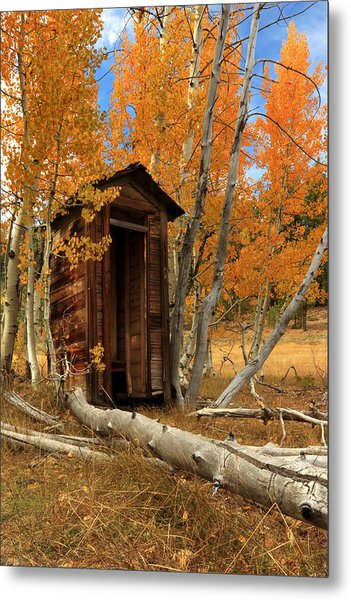 Outhouse In The Aspens Metal Print