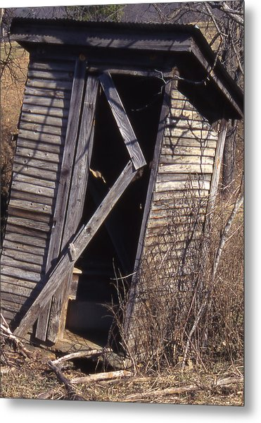 Outhouse1 Metal Print by Curtis J Neeley Jr