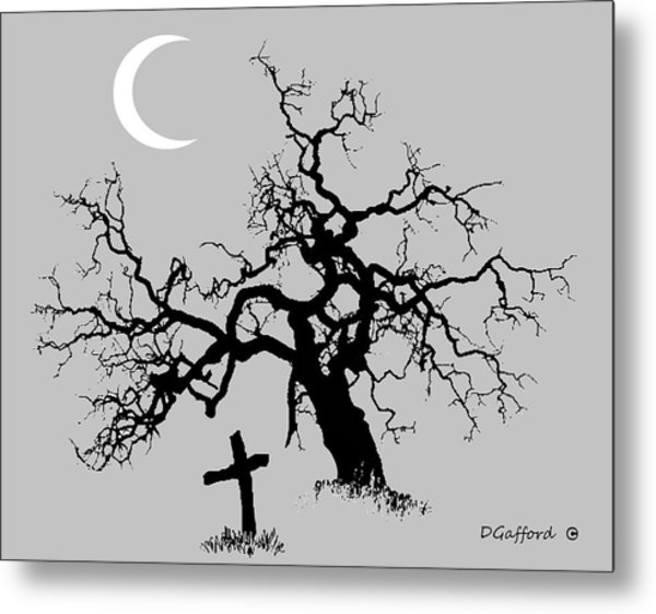 Outlaw Grave Metal Print by Dave Gafford