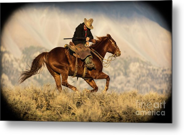 Outlaw Kelly Western Art By Kaylyn Franks Metal Print