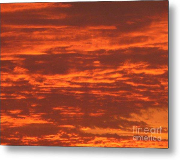 Outrageous Orange Sunrise Metal Print