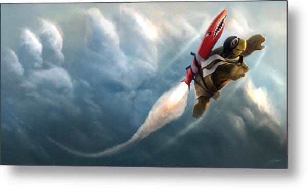 Outrunning The Clouds Metal Print