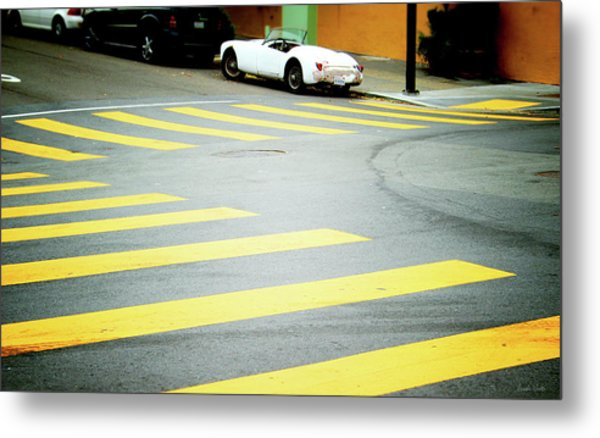 Outside The Lines- By Linda Woods Metal Print