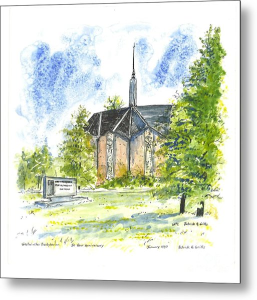Outside The Sanctuary At Westminster Presbyterian Chuch Metal Print