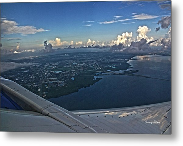 Over Tampa Metal Print by Chauncy Holmes