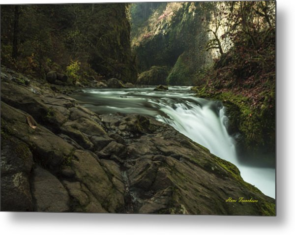 Over The Edge Signed Metal Print