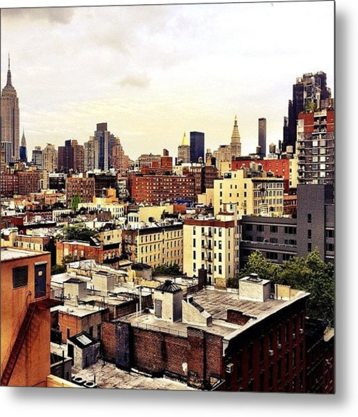 Over The Rooftops Of New York City Metal Print