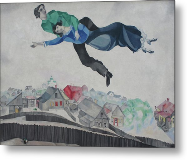Over The Town Metal Print by Marc Chagall