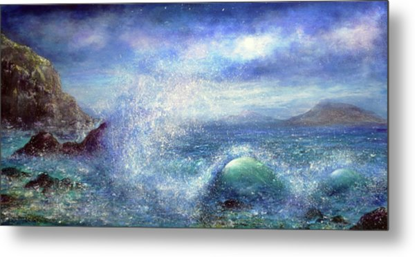 Over The Waves Metal Print by Ann Marie Bone