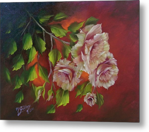 Overhanging Roses Metal Print by Micheal Giddens