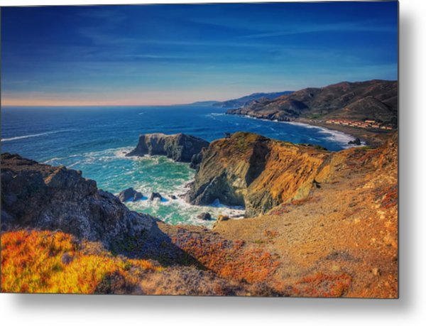 Overlooking Bird Island - Marin Headlands California Metal Print