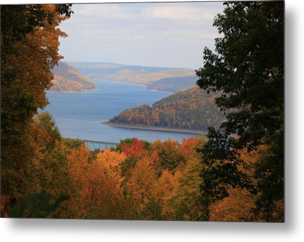 Overlooking Kinzua Lake Metal Print