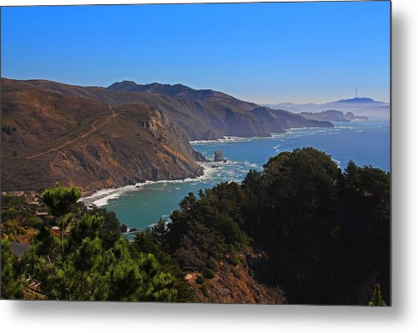 Overlooking Marin Headlands Metal Print