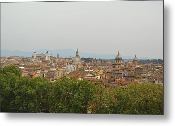 Overlooking Rome Metal Print by JAMART Photography