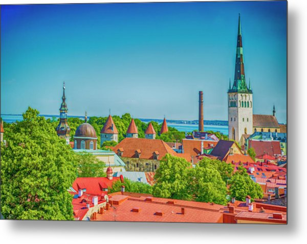 Overlooking Tallinn Metal Print