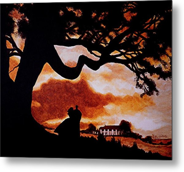 Overlooking Tara At Sunset Metal Print